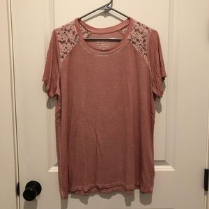 Torrid Super Soft Knits T-Shirt with Lace Detail